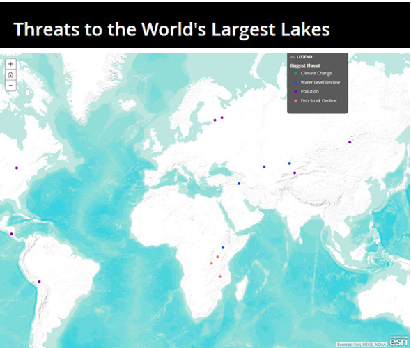 Biggest Lakes in the World Under Pressure From Human and